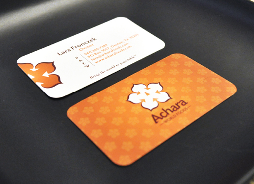 Achara World Foods business cards