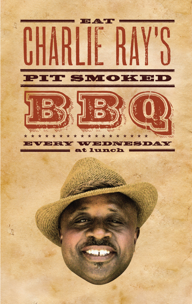 Charlie Ray's BBQ poster