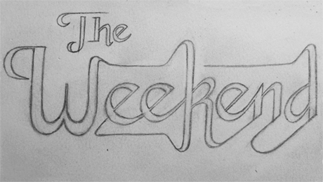 'The Weekend' typographic experiment